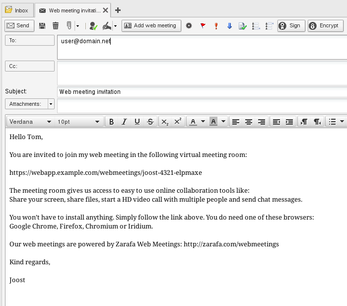 Zarafa web meetings 11 release candidate released external invitation to web meeting stopboris Images