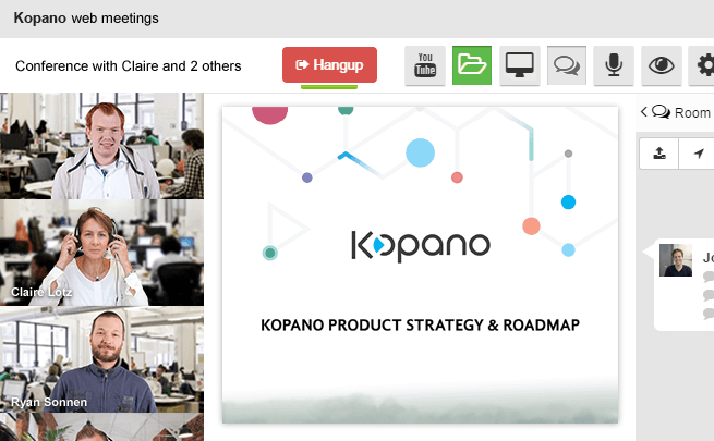Kopano Web Meetings High Quality Video Conferencing