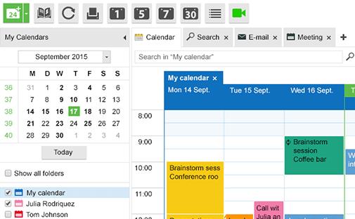 Kopano webapp calendar
