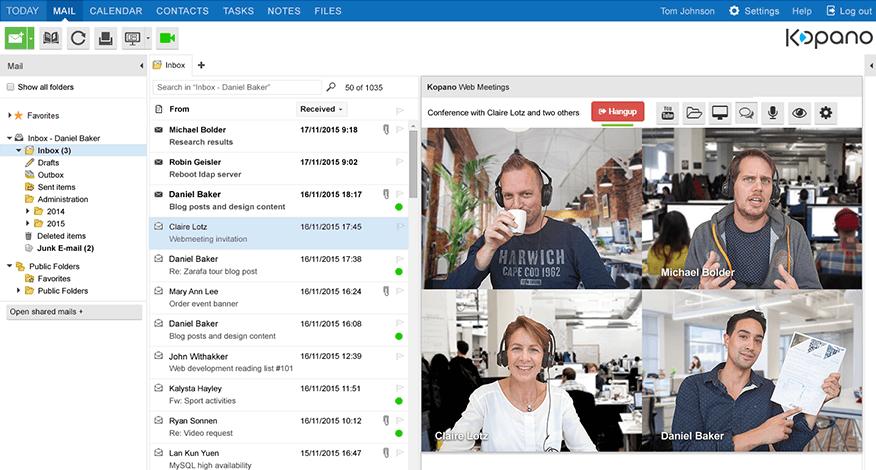 Inbox + webmeeting