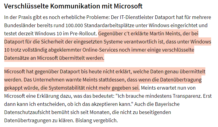 Heise Snippet Microsoft Data Collection