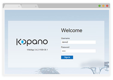 kopano demo - login screen