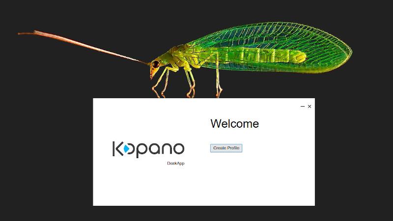 Screenshot: DeskApp Welcome Screen