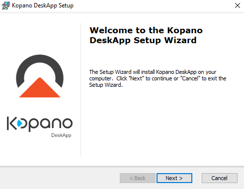 Kopano DeskApp: Windows installer